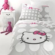 parure de lit enfant pas cher avec housse couette hello 140