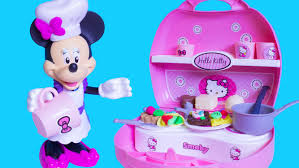 Dora The Explorer Kitchen Set Walmart by Minnie U0027s Mini Kitchen Playset Play Doh Hello Kitty Mini Kitchen