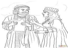 In The Bible Queen Esther Coloring Pages