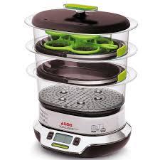 cuisiner à la vapeur vitacuisine compact vs404300 seb multicuiseurs et cuit vapeurs
