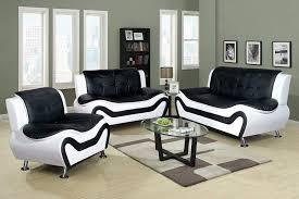 100 Sofa Modern Furniture Beverly Fine F45013pc 3 Piece Aldo Set BlackWhite