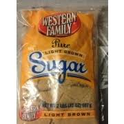Western Family Pure Light Brown Sugar Calories Nutrition