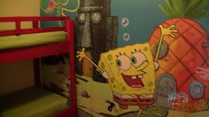 Spongebob Squarepants Bathroom Decor by Nick Hotel Spongebob Squarepants Family Suite Room Tour In Orlando