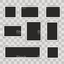 Photo Frames On Transparent Background Vector Illustration Royalty Free