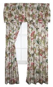 Jacobean Floral Design Curtains by Brissac Jacobean Floral Print Tailored Valance Window Curtain