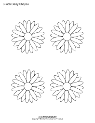 Print A Sheet Of Daisy Template Shapes For Your Creative Art Project Perfect Kids