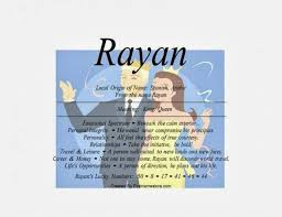 Rayan Name Means King In Spanish And Arabic