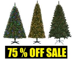 Christmas Tree 75 Pre Lit by Coupons And Freebies 75 Off Christmas Trees Sale 6 5 Foot