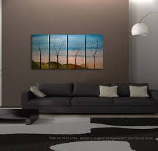 Tree Painting Four Seasons Blossom Original Art Spring Fall Summer Winter On Trend Stylish Home Decor