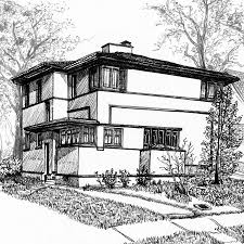 100 Frank Lloyd Wright Sketches For Sale Home Histories American SystemBuilt Homes South Side Weekly
