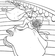Lovely Cinderella Coloring Pages Image 19