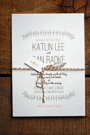 Simple Rustic Elegant Wedding Invitations