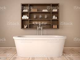 3 d illustration der modernen badezimmer mit holz regale stockfoto und mehr bilder 2015