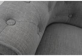 canapé chesterfield tissus fauteuil chesterfield tissu coton gris pieds noirs amadeus amadeus