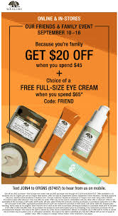 Pinned September 10th: $20 Off $45 & More At #Origins Or ...