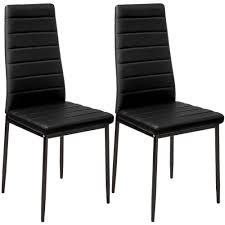 2 esszimmerstühle kunstleder schwarz