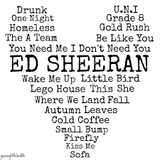 Drawn collage ed sheeran lyric Pencil and in color drawn collage