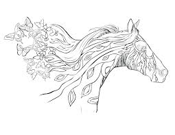 Horse Coloring Page Free Download Pages Adults Pdf For Printable No Downloading Full Size