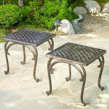 Cast Aluminum Outdoor Sets by Outdoor Furniture Side Table U2013 Tratamientos Co