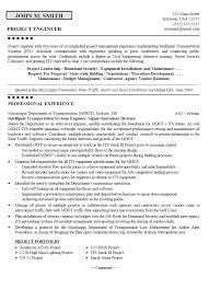 construction engineer sle resume