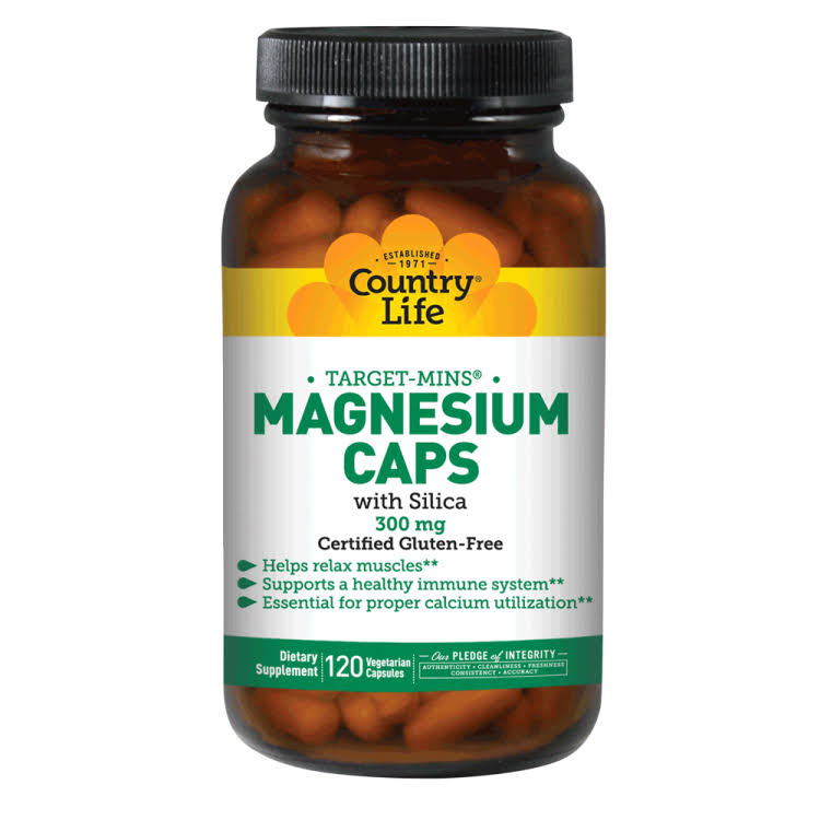 Country Life Magnesium Caps - 300mg, 120 Capsules