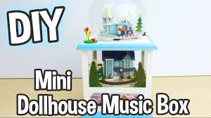 diy miniature dollhouse music box kit that spins and has working