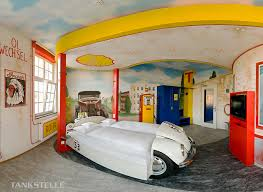This Room And The Following 4 Images Are From V 8 Hotel In Stuttgart Germany Rooms Designed To Represent A Gas Station Car Wash