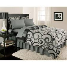Bed Skirts Queen Walmart by Alessandro Reversible Bed In A Bag Gray Walmart Com