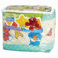 amazon com sesame beginnings 3 piece crib bedding set baby