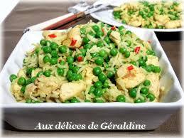 cuisiner petits pois frais aux délices de géraldine curry de poulet au lait de coco et petits pois