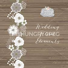 Rustic Wedding Clipart Teal Brown Shabby Chic Hand Drawn Flower Wood Digital Paper