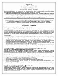Facility Manager Resume Operations Sample Pdf Rimouskois Job Resumes
