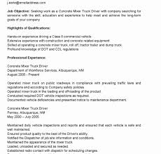 Truck Driver Resume No Experience Application Letter For Employment ...