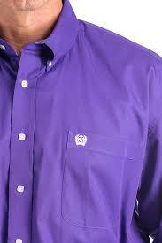 cinch jeans men u0027s 3xl solid purple button down western shirt