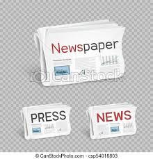 Newspapers Set Transparent Background