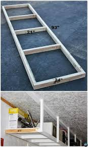 Hyloft Ceiling Storage Unit Instructions by Lovely Garage Overhead Storage Diy 11 Diy Overhead Garage Storage