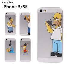 Hot New Phone Cases Cartoon Simpson Transparent Cover Back Case