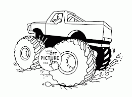 100 Monster Truck Coloring Pages Pages Cool Huge Page For