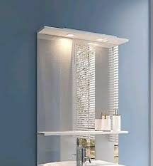 spiegel mit lichtleiste u ablagebrett bauhaus
