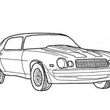 Muscle Camaro Bumblebee Car Coloring Pages