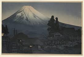 Mount Fuji From Mizukubo By Takahashi Shotei Japanese Prints Collection MS