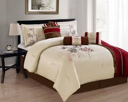 Queen Size Bed In A Bag Sets by Bedroom Adorable Purple And White Queen Bedding Sets With Leaves