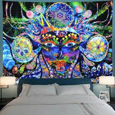 de psychedelic tapisserie hippie zimmer wandbehang decke kunst dashaus dekor