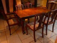 Mahogany Extendable Dining Table 4 Chairs And 2 Carvers