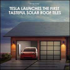 tesla launches the truly solar roof tiles