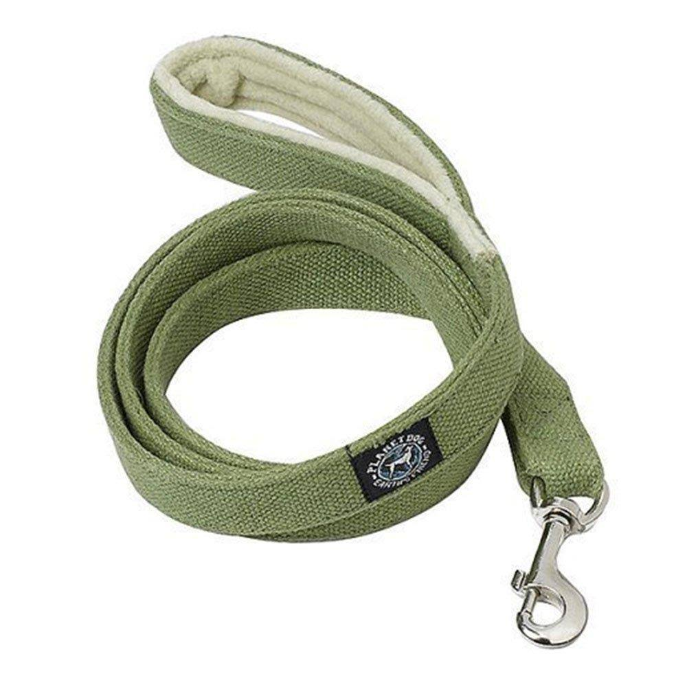 Planet Dog Natural Hemp Leash with Fleece Lined Handle - Apple Green, 5'