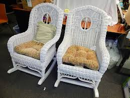Henry Link White Wicker Rocking Chair 2 Available ...