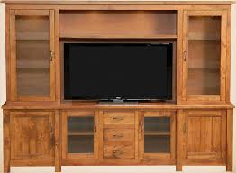 Barn Floor Style Rustic Hutch Entertainment Wall Unit