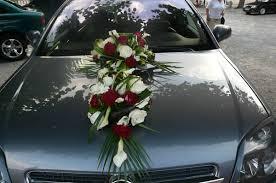 décoration florale de la voiture des futurs mariés galerie photo