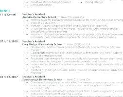 Teaching Assistant Resume Sample For Preschool Teacher